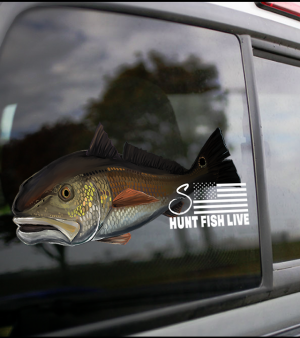 Redfish Decal (Medium Decal)