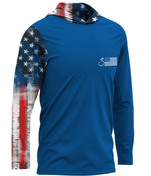 Old Glory Hooded Performance Shirt